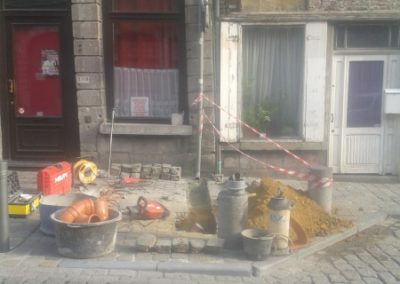 Travaux égouttage Saint-Ghislain: réalisation